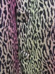 Leopard print skirt button detail