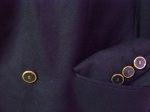 Navy Blazor button detail