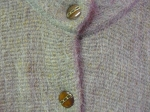 Mohair Cardigan Coat Button detail
