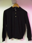 Black wool jumper S