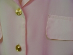 Pink shirt button detail
